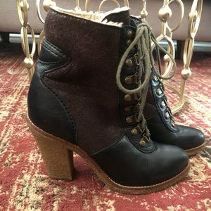 Sam Edelman leather Heeled boots